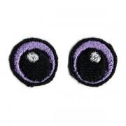 Oči vyšívané, 20 mm, fialové (1 pár)
