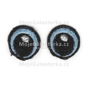 Oči vyšívané, 20 mm, modré světlé (1 pár)