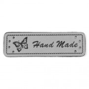 Cedulka HandMade, 50x15mm, šedá