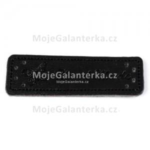 Cedulka HandMade, 50x15mm, černá