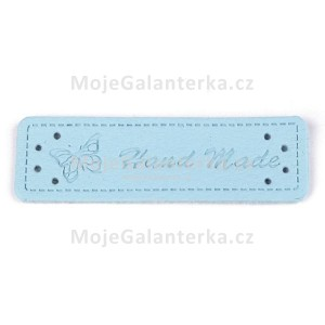 Cedulka HandMade, 50x15mm, modrá světlá