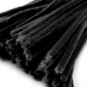Chlupaté drátky, průměr 6 mm, délka cca 30 cm, černý