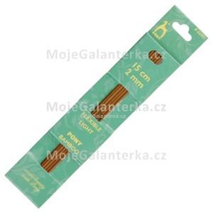 Jehlice ponožkové, 2 mm, bambusové, Pony