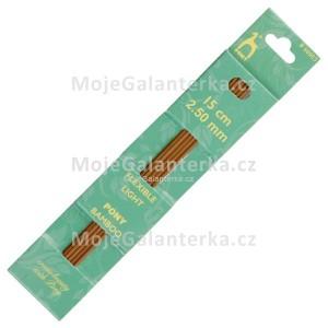 Jehlice ponožkové, 2.50 mm, bambusové, Pony