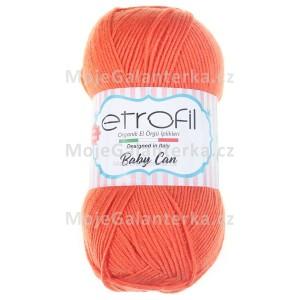 Příze Baby Can, 80024, oranžová