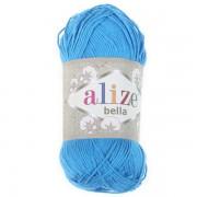 Příze Bella 100, 387 modrý tyrkys (100g)
