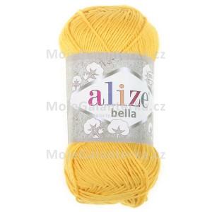 Příze Bella 100, 488 žlutá (100g)
