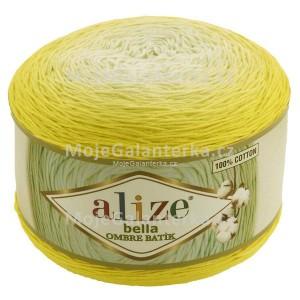 Příze Bella Ombre Batik, 7414, žlutá