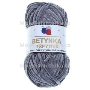 Příze Betynka třpytivá, 420, tmavě šedá