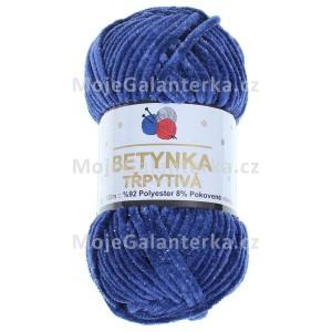 Příze Betynka třpytivá, 421, modrá