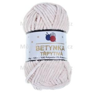 Příze Betynka třpytivá, 442, bílá káva