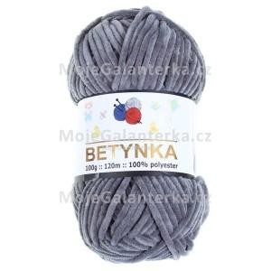Příze Betynka, 320, tmavě šedá