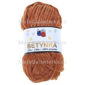 Příze Betynka, 337, medově hnědá