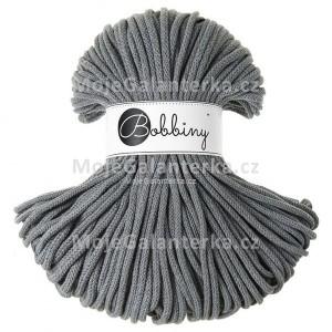 Příze Bobbiny, 3mm, STEEL (ocelově šedá)