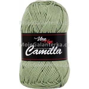 Příze Camilla, 8166, světlá zeleno šedá
