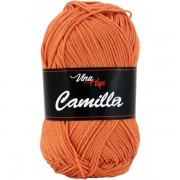 Příze Camilla, 8200, hnědo oranžová