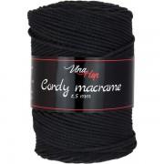 Příze Cordy Macrame, 8001, černá