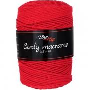 Příze Cordy Macrame, 8009, červená