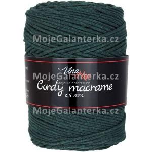 Příze Cordy Macrame, 8157, lesní zelená