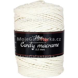 Příze Cordy Macrame, 8171, smetanová