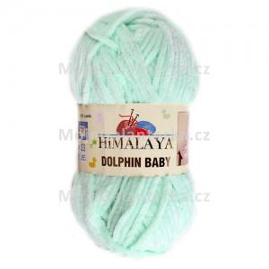 Příze Dolphin Baby, 80307, zelená světlá