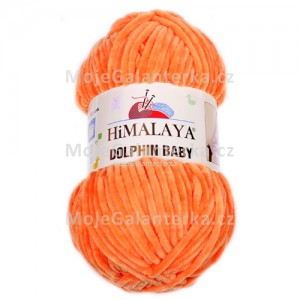 Příze Dolphin Baby, 80316, oranžová