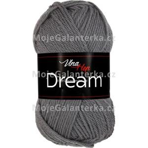 Příze Dream, 6410, tmavě šedá