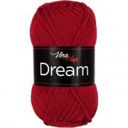 Příze Dream, 6411, tmavě červená