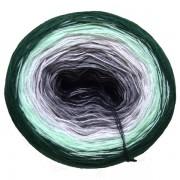 Příze Duhovka, černá, šedá, sv.šedá, mint, tm.zelená, 750m (11695)