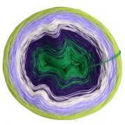 Příze Duhovka, smaragd, tm.fialová, smetanová, krokusová, sv.zelená, 750m (11693)