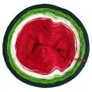 Příze Duhovka, červená, smetanová, zelená, tm.zelená, 750m (11685)
