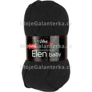 Příze Elen Baby, 4001, černá