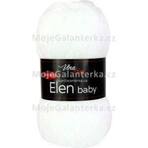 Příze Elen Baby, 4002, bílá