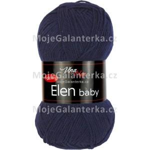 Příze Elen Baby, 4121, tmavě modrá