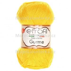 Příze Gurme, 72043, tmavě žlutá