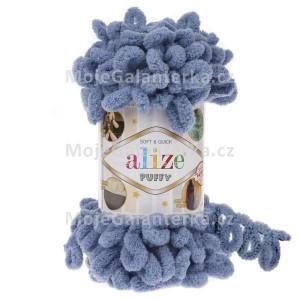 Příze Puffy, 374, modro-šedá