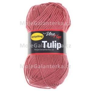 Příze Tulip, 4430, tmavá starorůžová