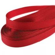 Stuha  6mm, taftová, délka 10m, červená (643)