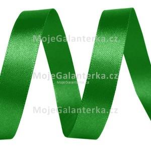 Stuha 10mm, atlasová, zelená (019)