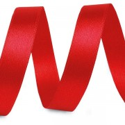 Stuha 10mm, atlasová, červená (026)