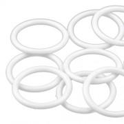 Kroužek na záclony, Ø30 mm, plastový, bílý