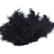 Pštrosí peří, délka 9-16 cm, černé