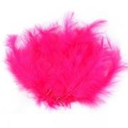 Pštrosí peří, délka 9-16 cm, růžová neonová