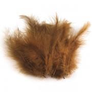 Pštrosí peří, délka 9-16 cm, hnědé