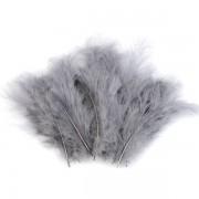 Pštrosí peří, délka 9-16 cm, šedé